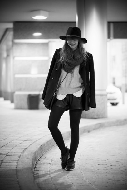 just another me shorts sweater blouse shoes bag hat jewels scarf