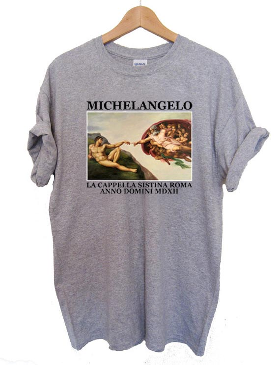 michelangelo T Shirt Size S,M,L,XL,2XL,3XL