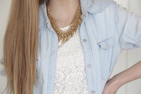denim jacket jewels clothes trends