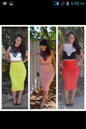 skirt,white,neon,crop tops,midi skirt,midi dress,see through,elegant,cute,red,black,blouse,dress,curvy