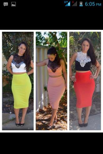 skirt white neon crop tops midi skirt midi dress see through elegant cute red black blouse dress curvy