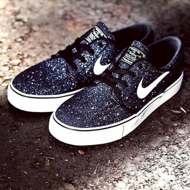 5935d6f4848d shoes nike sb nike sb black and white galaxy print nike polka dots janoski s  black ivory