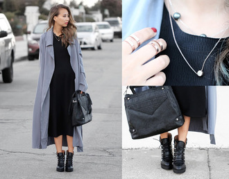 different cands blogger coat sweater jewels bag shoes