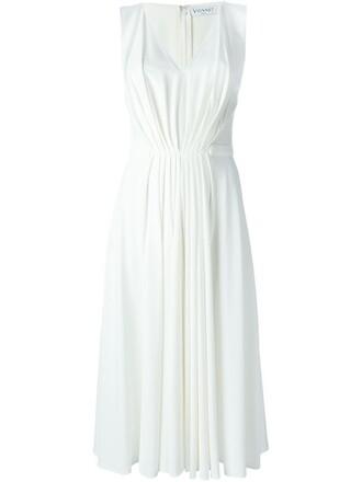 dress midi dress pleated midi white