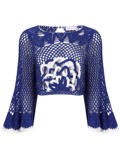 Alice McCall top blue cobalt blue