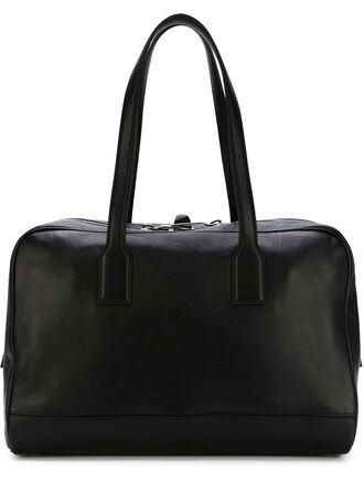 bag designer bag max mara black leather bag maxi bag travel bag