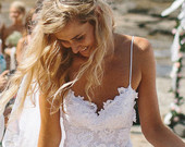 Breathtaking beach lace wedding dress with by graceloveslace