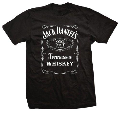 Amazon.com: jack daniel's label mens black t