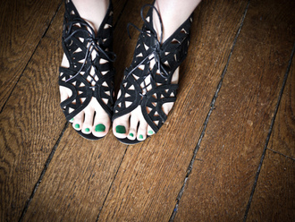 flat sandals black shoes shoes