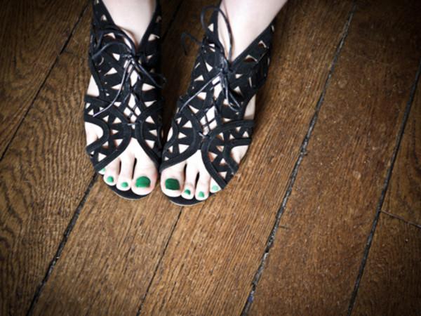 flat sandals black shoes shoes