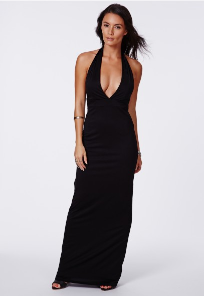 Penny Halterneck Maxi Dress - Maxi Dresses - Missguided