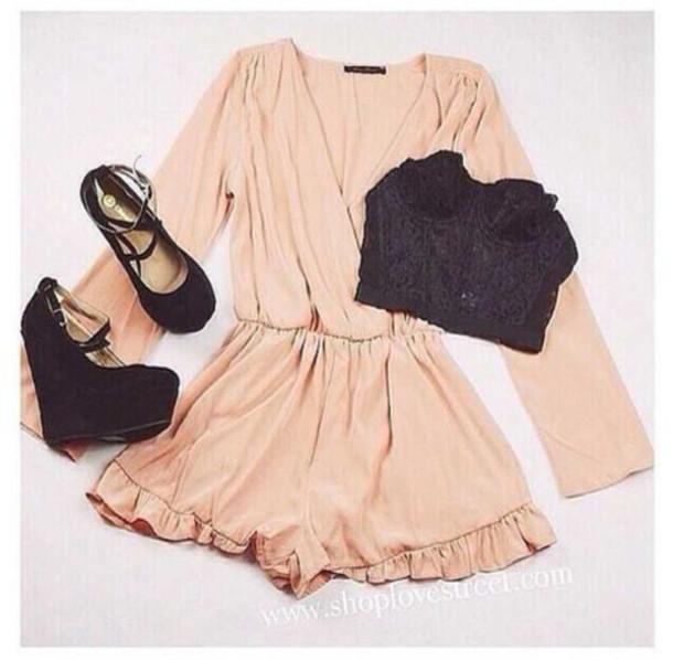 shorts pink monoshort jumpsuit shoes dress shirt
