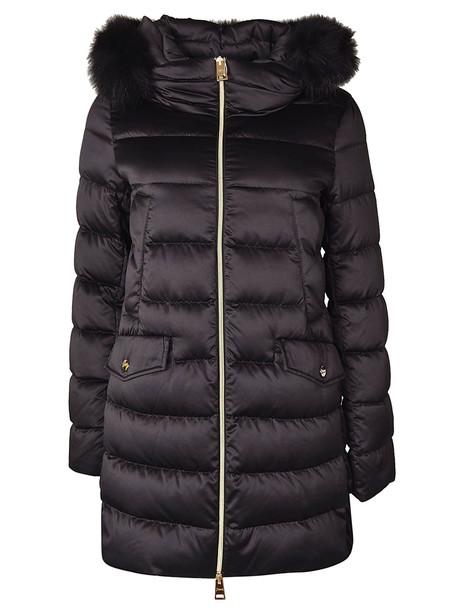 Herno Fur Trimmed Padded Jacket In Black