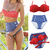 Sexy Cute Retro High Waist Vintage Push Up Bandeau Bikini Swimsuit Swimwear Set | eBay