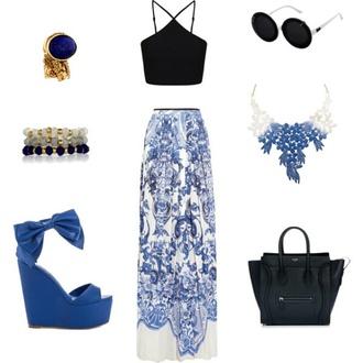 shoes blue skirt blue shoes