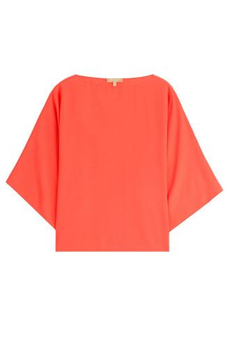 blouse silk orange top