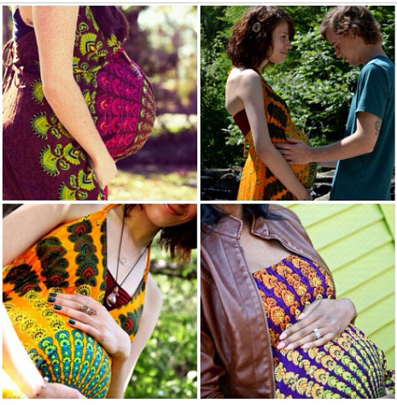 Handmade Hippie Maternity Dress Maternity Mandala by Cloud9Jewels