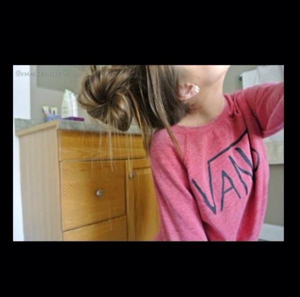 sweater vans pink sweatshirt
