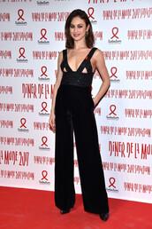 pants,top,high waisted,wide-leg pants,olga kurylenko,fashion week,fashion week 2017,black wide-leg velvet pants