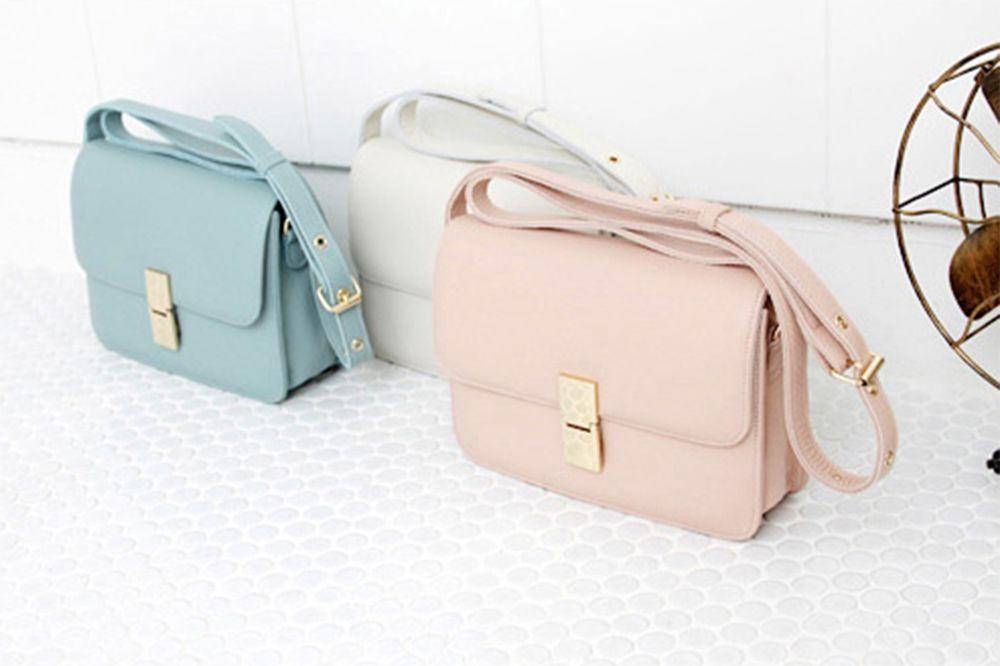 8 Color 100% Genuine Leather Womans Cross body Messenger bag   eBay