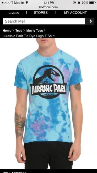 t-shirt tie dye tumblr jurassic parks