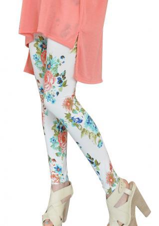 Women's summer retro floral printing skinny pants online