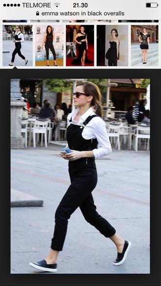 pants black overalls emma watson