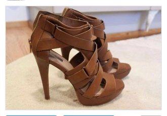 shoes high heels brown sandals sandal heels buckles