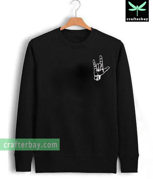 metal hand Unisex Sweatshirt