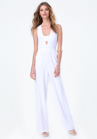 jumpsuit v neck white jumpsuit bandeau formal event outfit