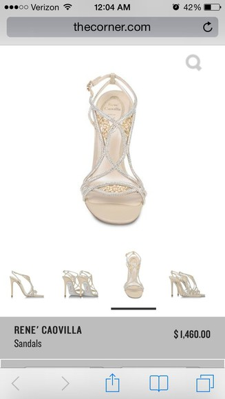 pearls rene caovilla, tan, diamonds, pearls rhinestone shoes heels sandles high heels sandals rhinestones