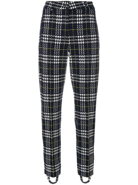 Cambio women spandex cotton black houndstooth pants