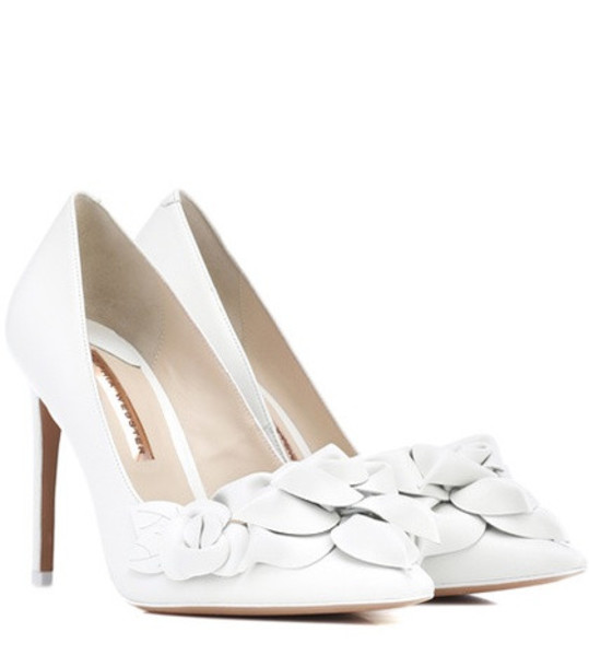 Sophia Webster Exclusive to Mytheresa –  Jumbo Lilico leather pumps in white