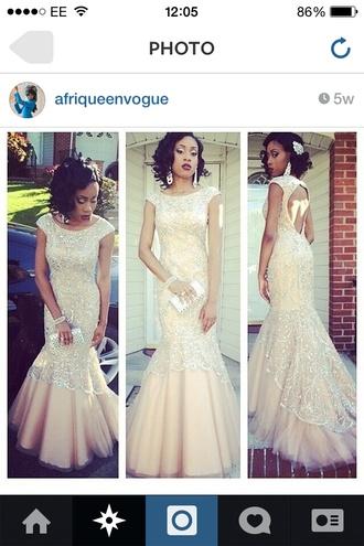 prom champagne dress cream fishtail dress beautiful long prom dress