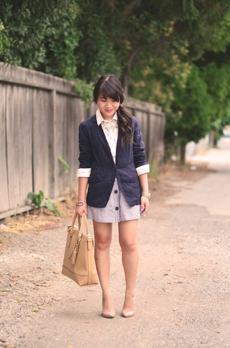 daily disguise shirt jacket skirt bag jewels shoes