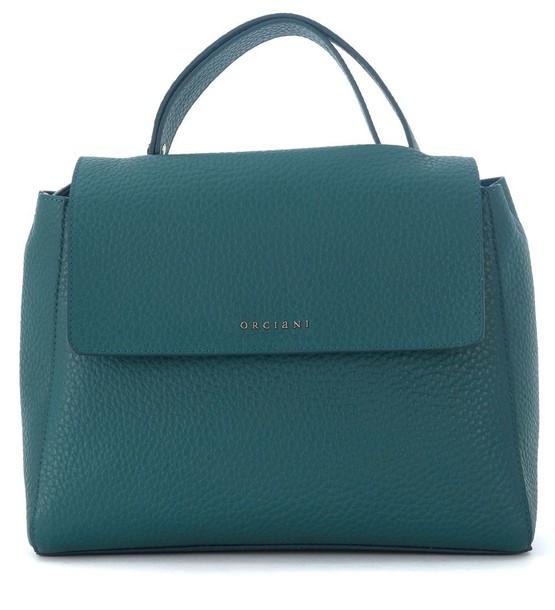 Orciani handbag leather green teal bag