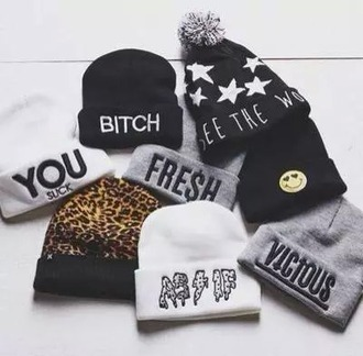 hat stars graphic hats beanies weheartit dress indie grunge bohemian hipster