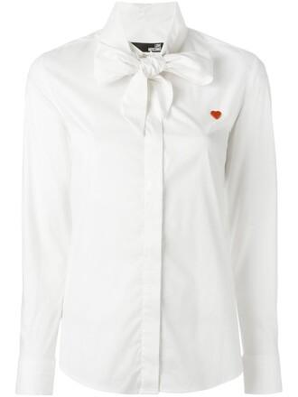 shirt heart white top