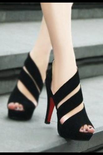 shoes high pumps pumps black
