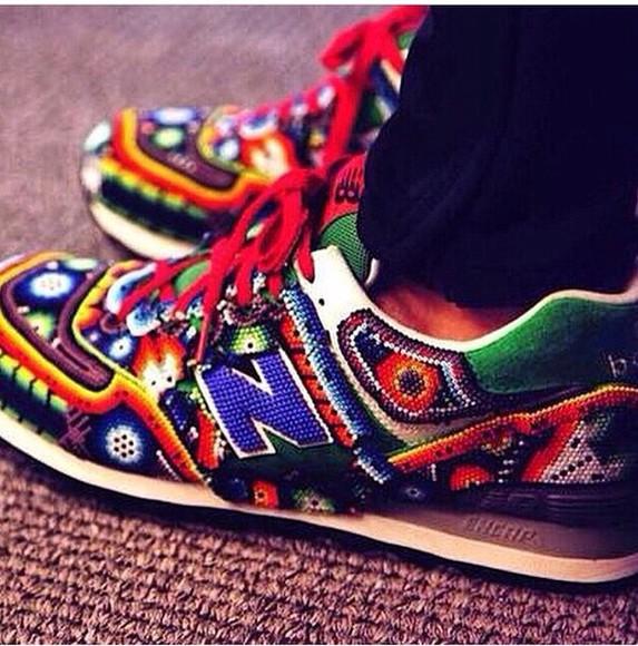 aztec new balance colorful