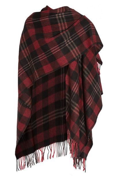 d685e9ea314e Balenciaga Tartan Cashmere and Wool-Blend Scarf in black - Wheretoget