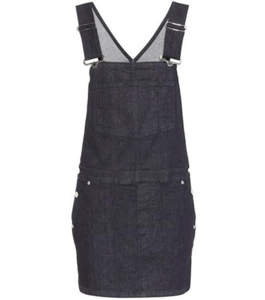 dress overall dress denim blue