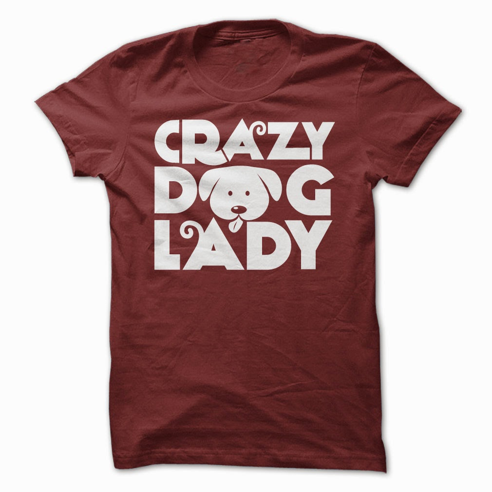 Crazy Dog Lady Funny T-Shirt & Hoodie