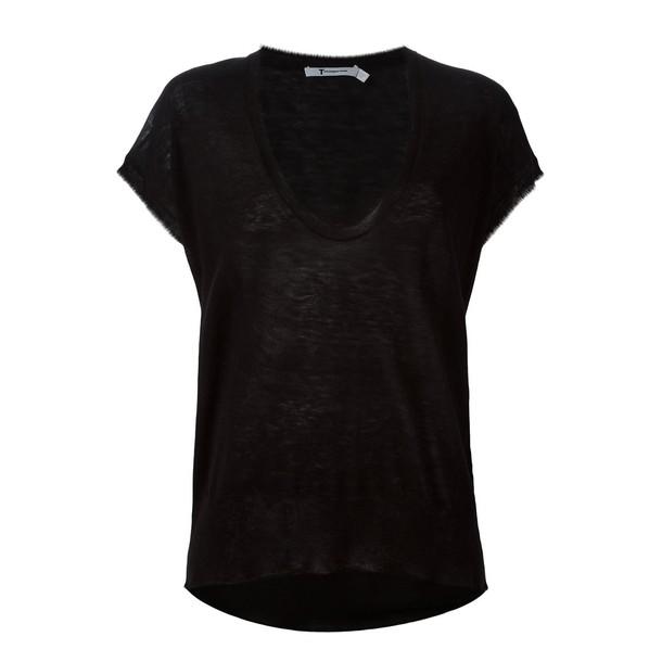 Alexander Wang top black knit