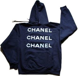 jacket navy chanel streetwear hoodie