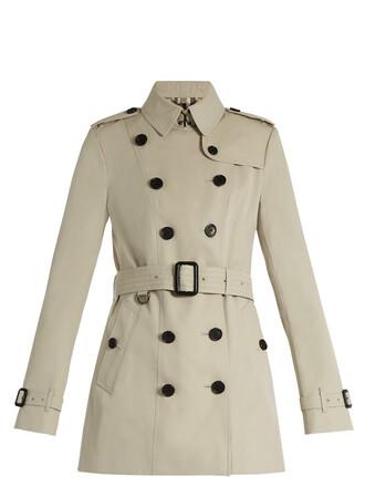 coat trench coat short beige