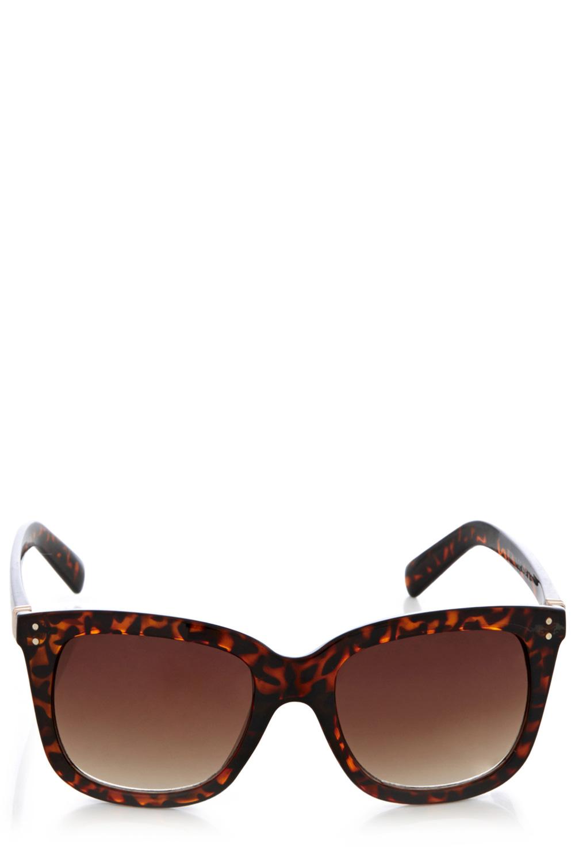 Alle Accessoires von Warehouse online shoppen | Neutral Sonnenbrille mit D-Gestell | Damenmode | Warehouse