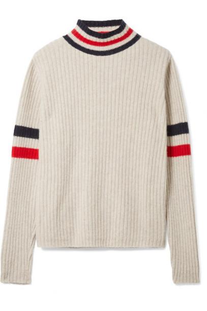 The Elder Statesman sweater turtleneck turtleneck sweater beige