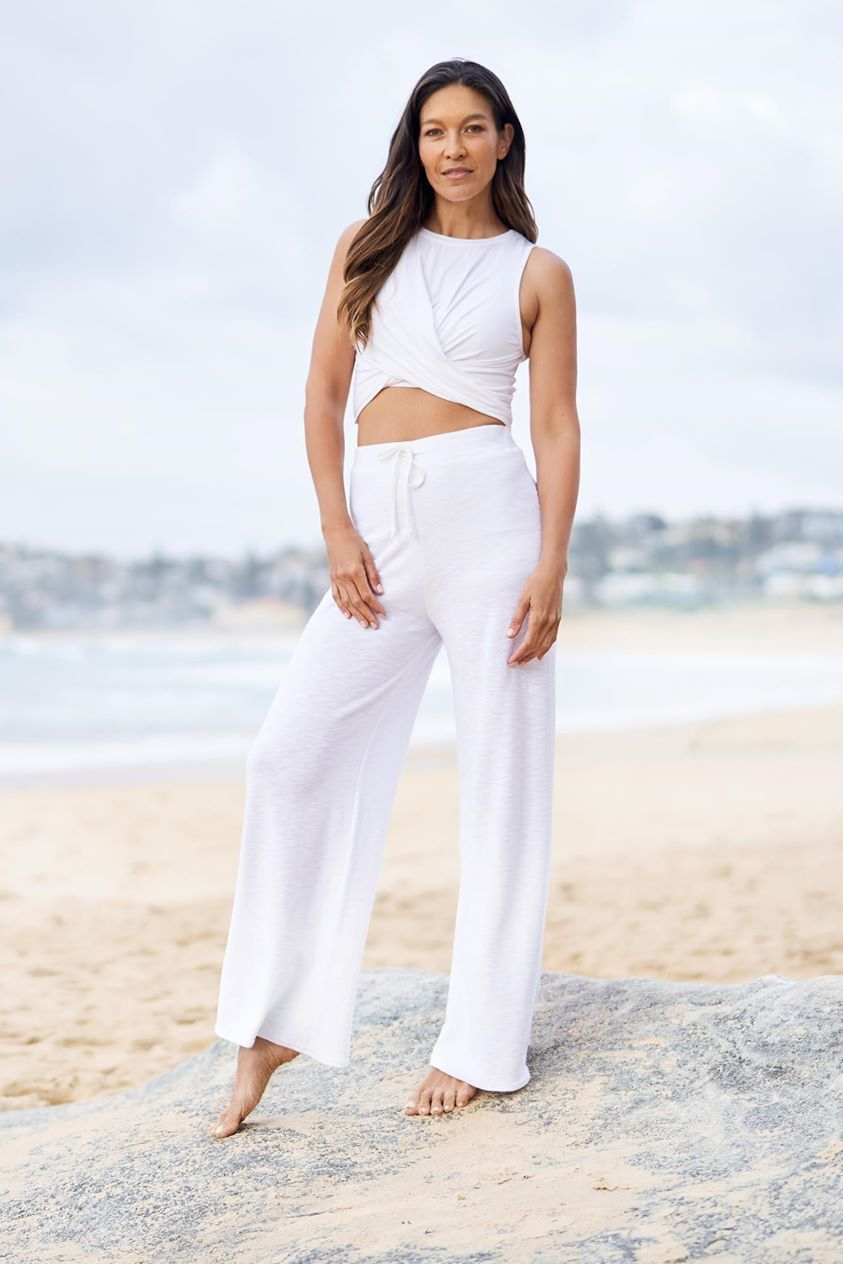 Breeze Knit Relaxed Pant - White