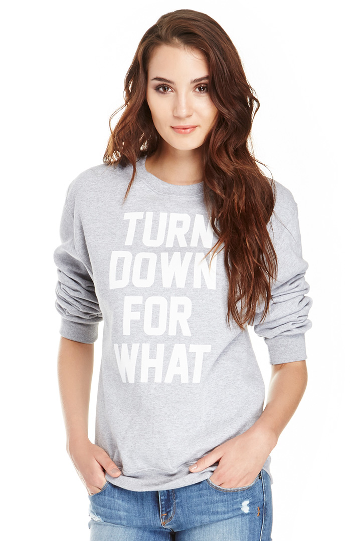 Dailylook: supermuse turn down for what sweatshirt in gray xs